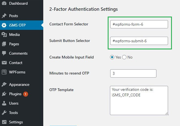 Configure WordPress iSMS Authenticator Plugin Malaysia