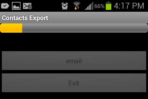 iPhone CSV Export