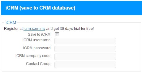 Bulk SMS CRM Malaysia Wordpress SE Contact Form