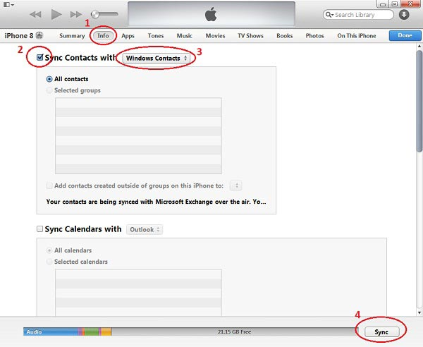 How to Extract iPhone Contacts to CSV File using iTunes