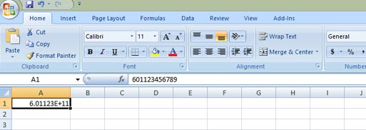 Bulk SMS End User Guide Microsoft Excel Cell Number Format