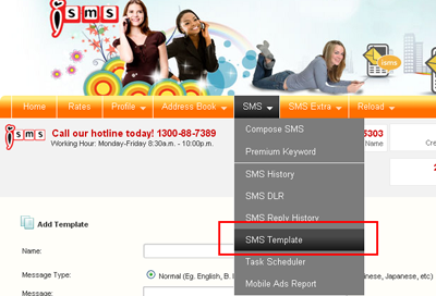 Bulk SMS End User Guide SMS Template
